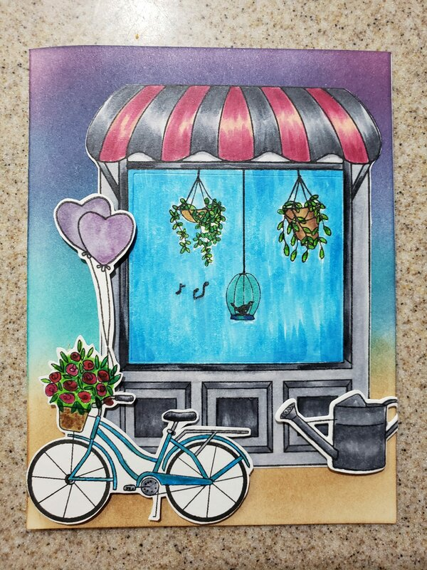 Hero Arts Bicycle Card
