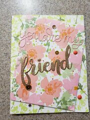 You are my Friend & Just For You stamp set card