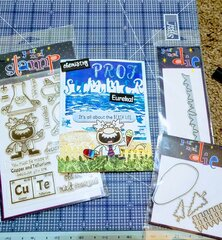 Chemistry Prof Summer Card (shown with products used)