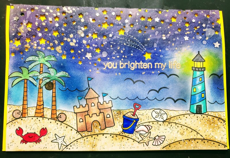 You Brighten My Life Card
