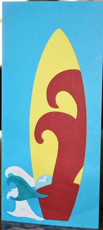 USMC colors surfboard