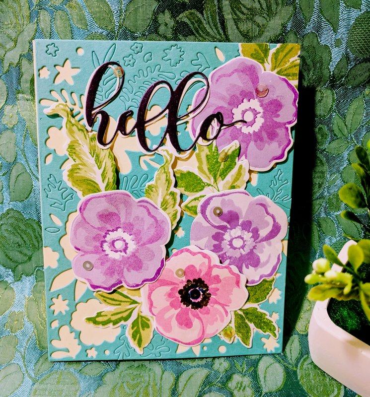 Hello Flower Arrangment Card