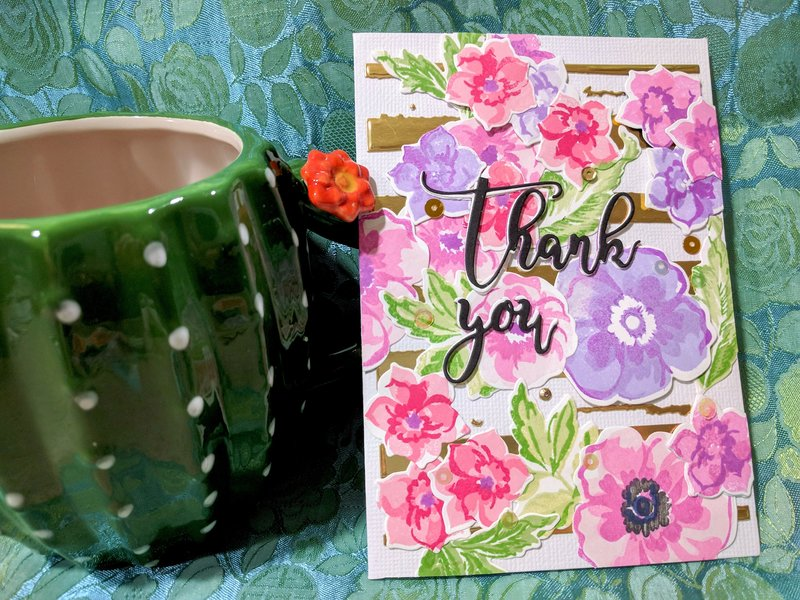 Thank You Flower Arrangement Card