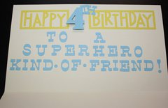 Inside of SuperHero Birthday Card