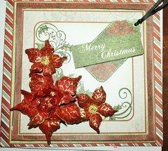 Pointy Poinsettia Christmas Card