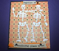 Skeletons Together for Halloween