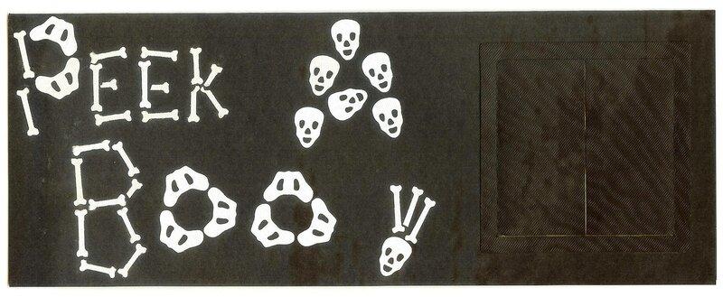 Halloween Peek A Boo card