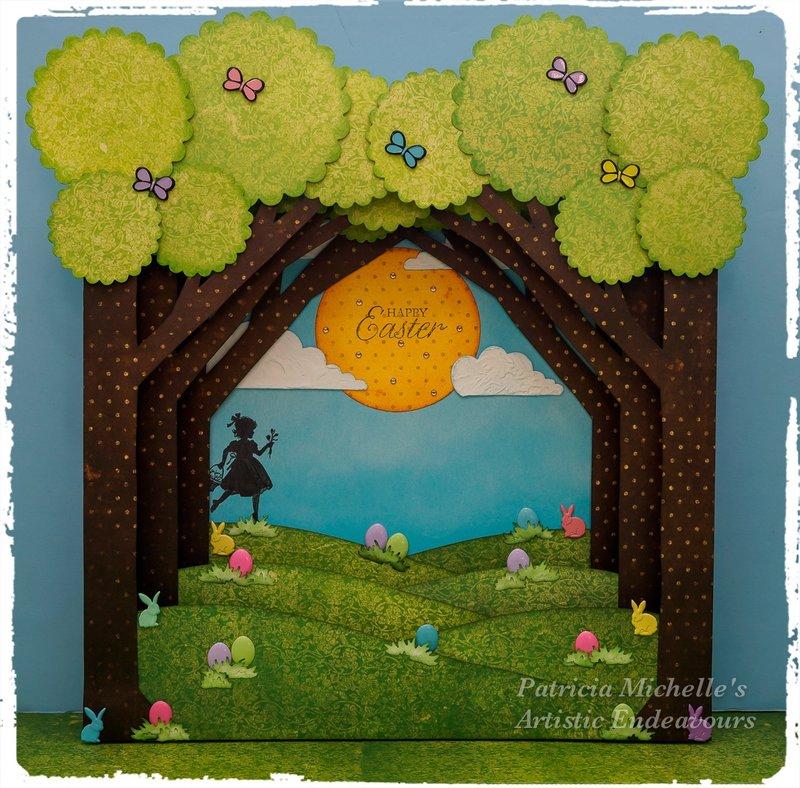 """""""Easter Egg Hunt"""" 3-D Canvas"""