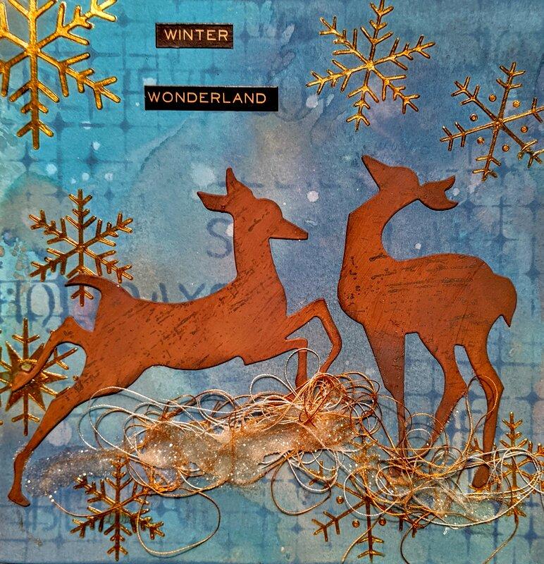 Winter Wildlife Art Journal Page