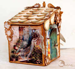 Fairy house- Artist Trading Block