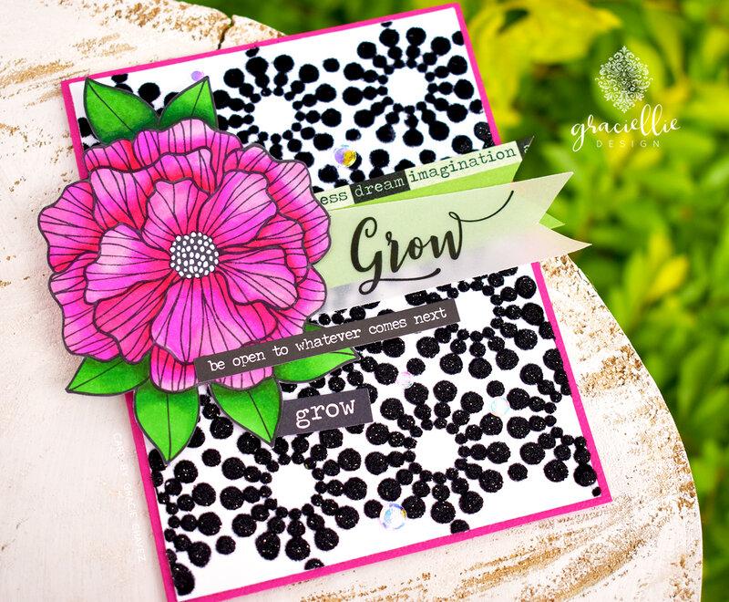 Grow Deco Foil Flock Card