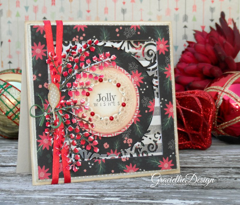 Snowy Winterberries - Jolly Wishes Christmas Card