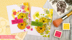 Stamped and Stenciled Cards