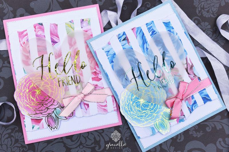 EASY VALENTINE'S CARDS WITH DECO FOIL + GRACIELLIE DESIGN