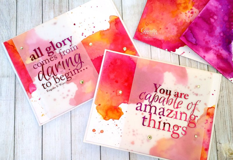 Watercolor Wash Backgrounds for Cards
