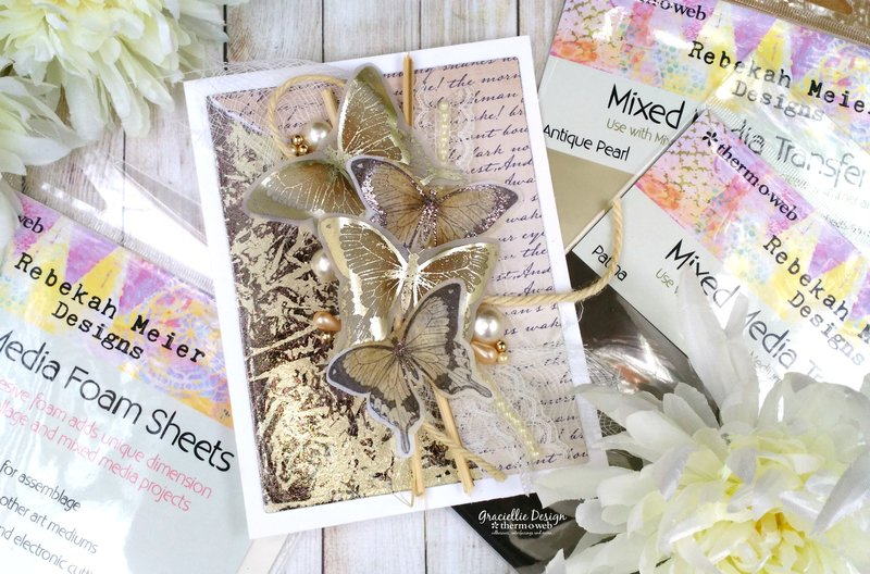 Mottled Foil Backgrounds with Deco Foil