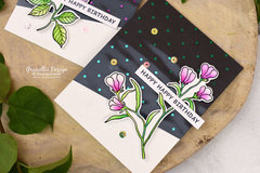 Waffle Flower Bouquet Builder Cards with Deco Foil by Therm O Web