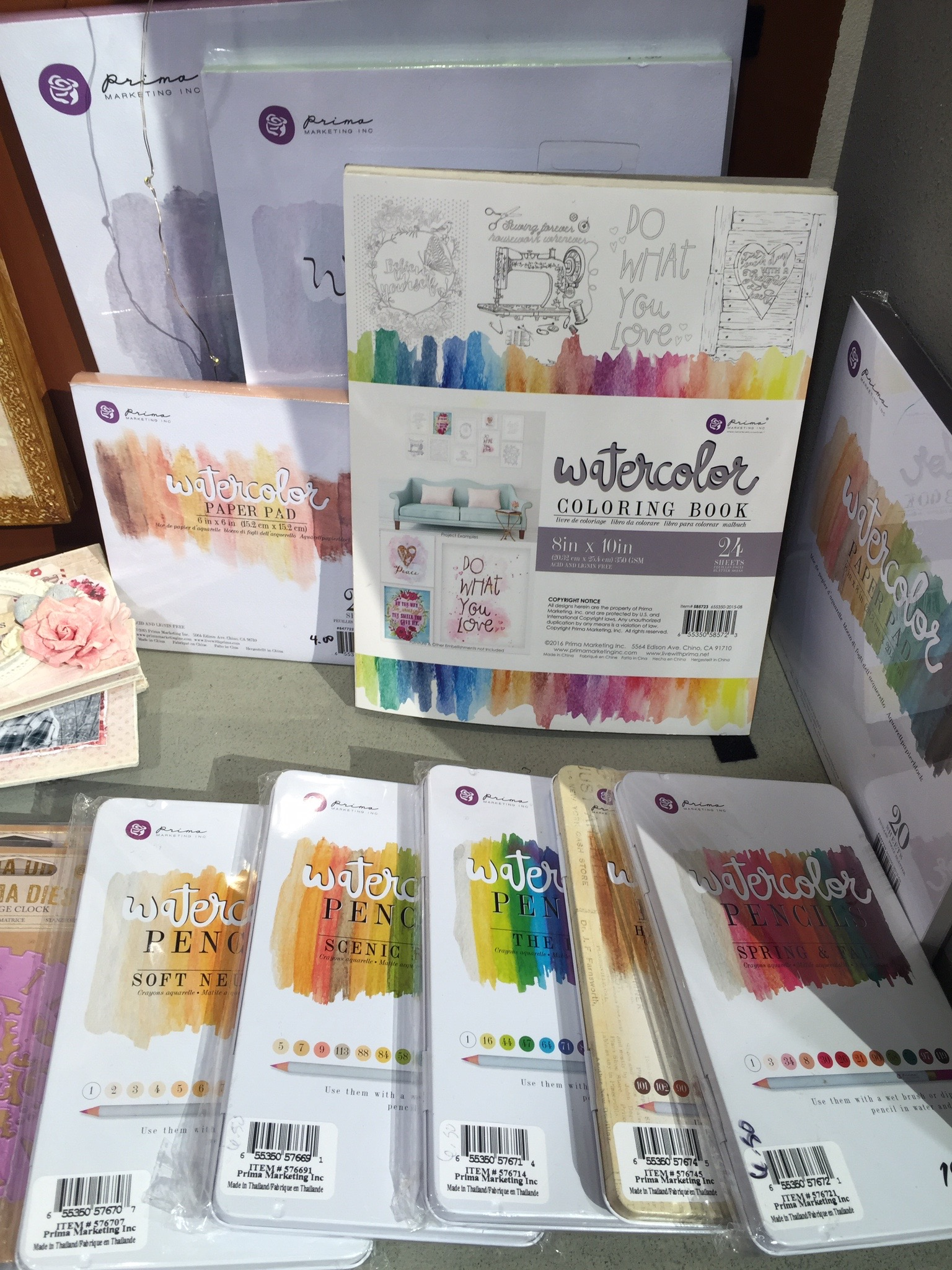 Watercolor Coloring Book CHA Winter 2016