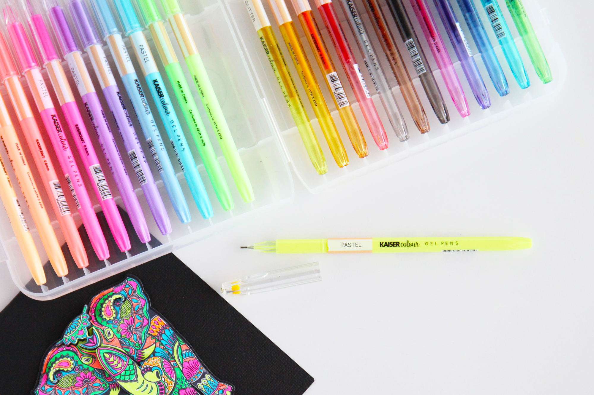 Get coloring with Kaisercraft Kaisercolour Gel Pens!