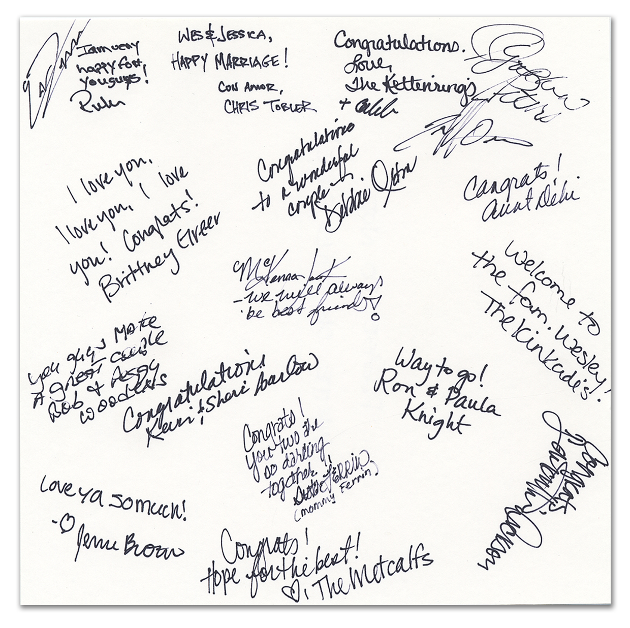 Guest Book - Signature Page Sample
