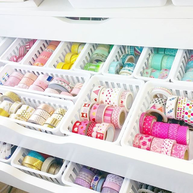 Washi storage drawer organization for Tutorial ikea home planner