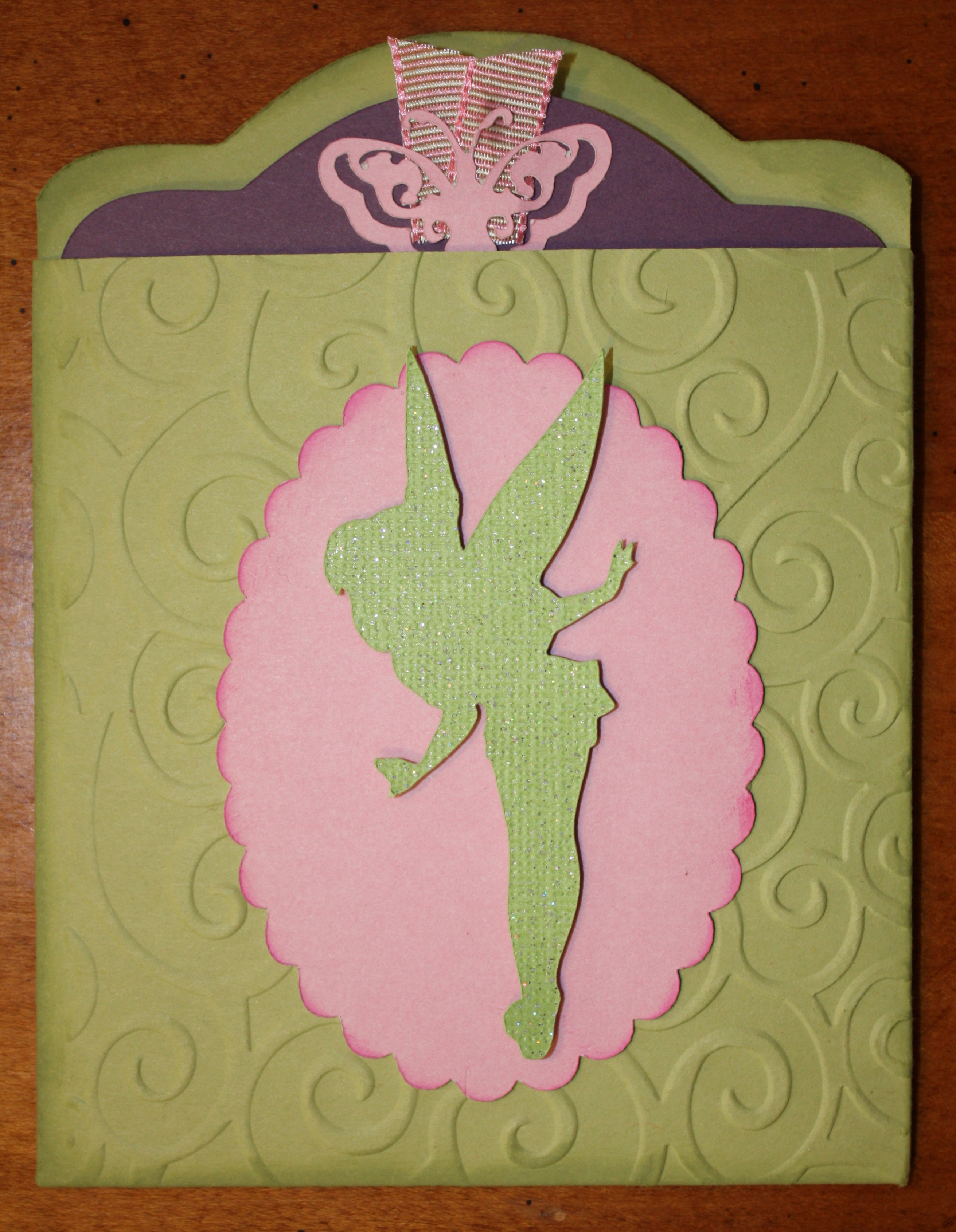 Tinkerbell Pocket Baby Shower Invitation