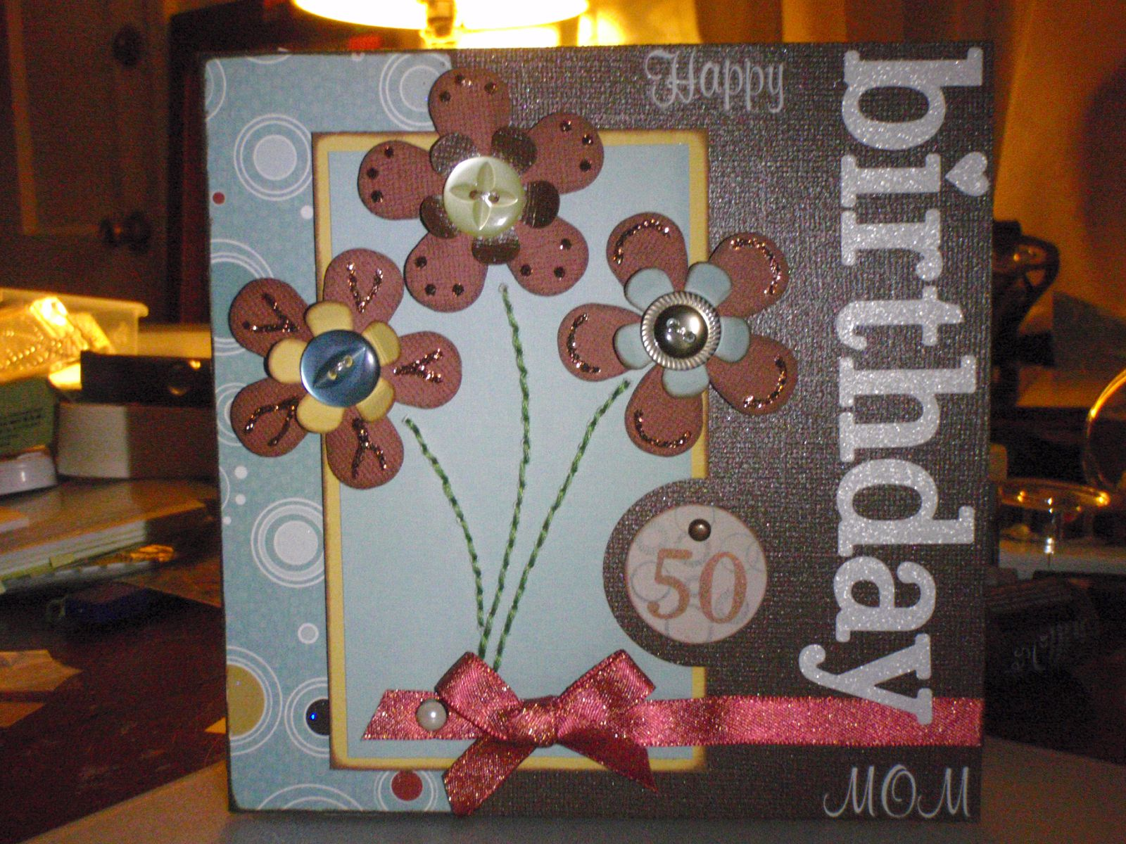 Moms 50th Birthday Card