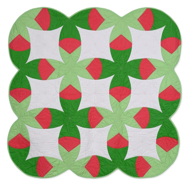 Double Wedding Ring Quilt.Tulip Double Wedding Ring Quilt By Victoria Findlay Wolfe