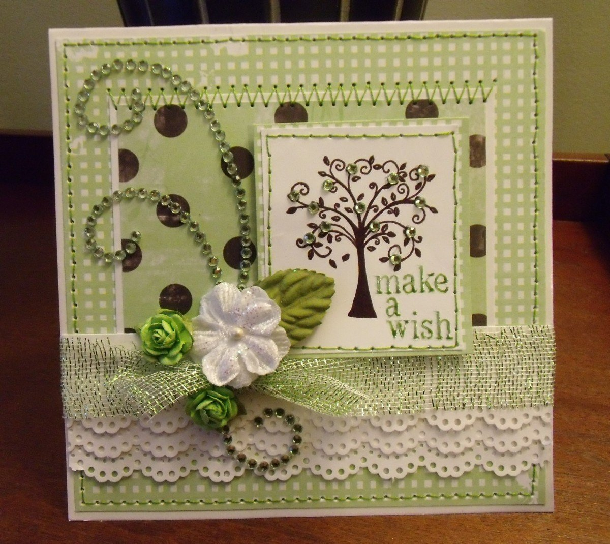 How to scrapbook greeting cards - Make A Wish Card Spring 2013