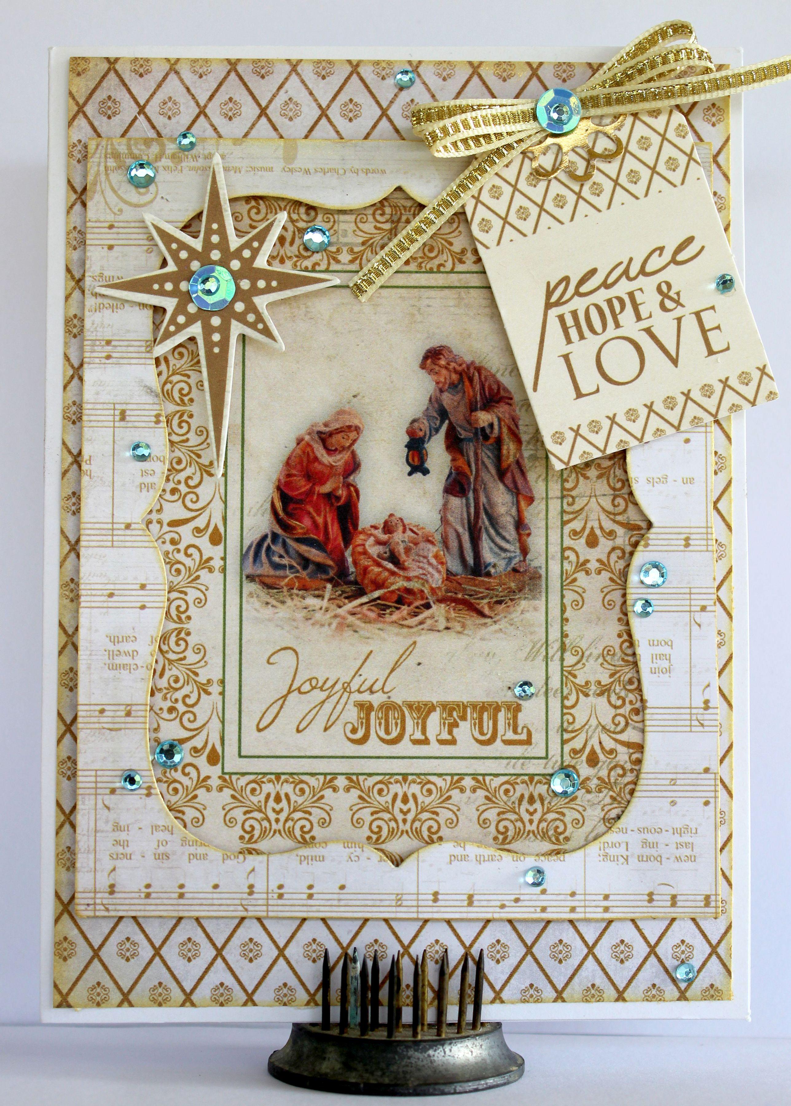 Joyful Christmas Card - Kaisercraft Holy Night