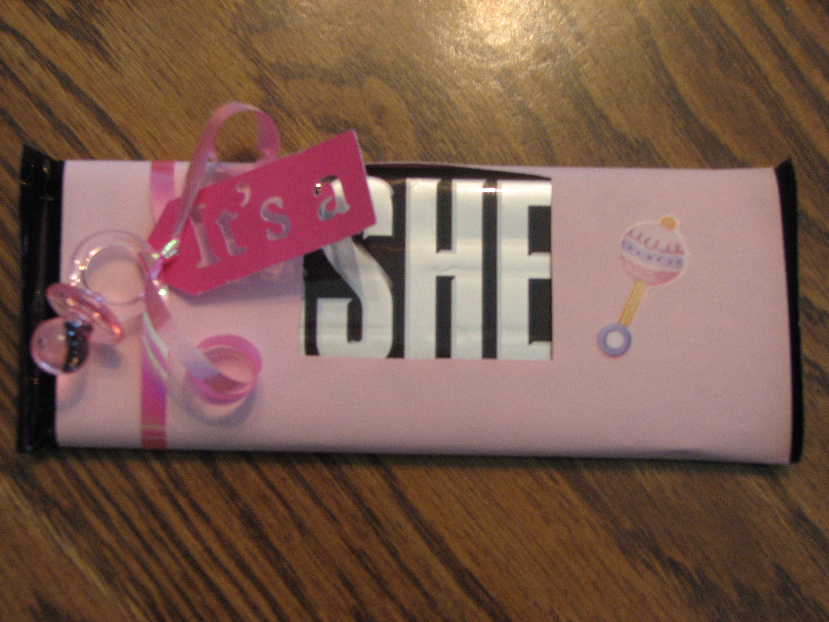 a She Hershey Baby Shower Favor