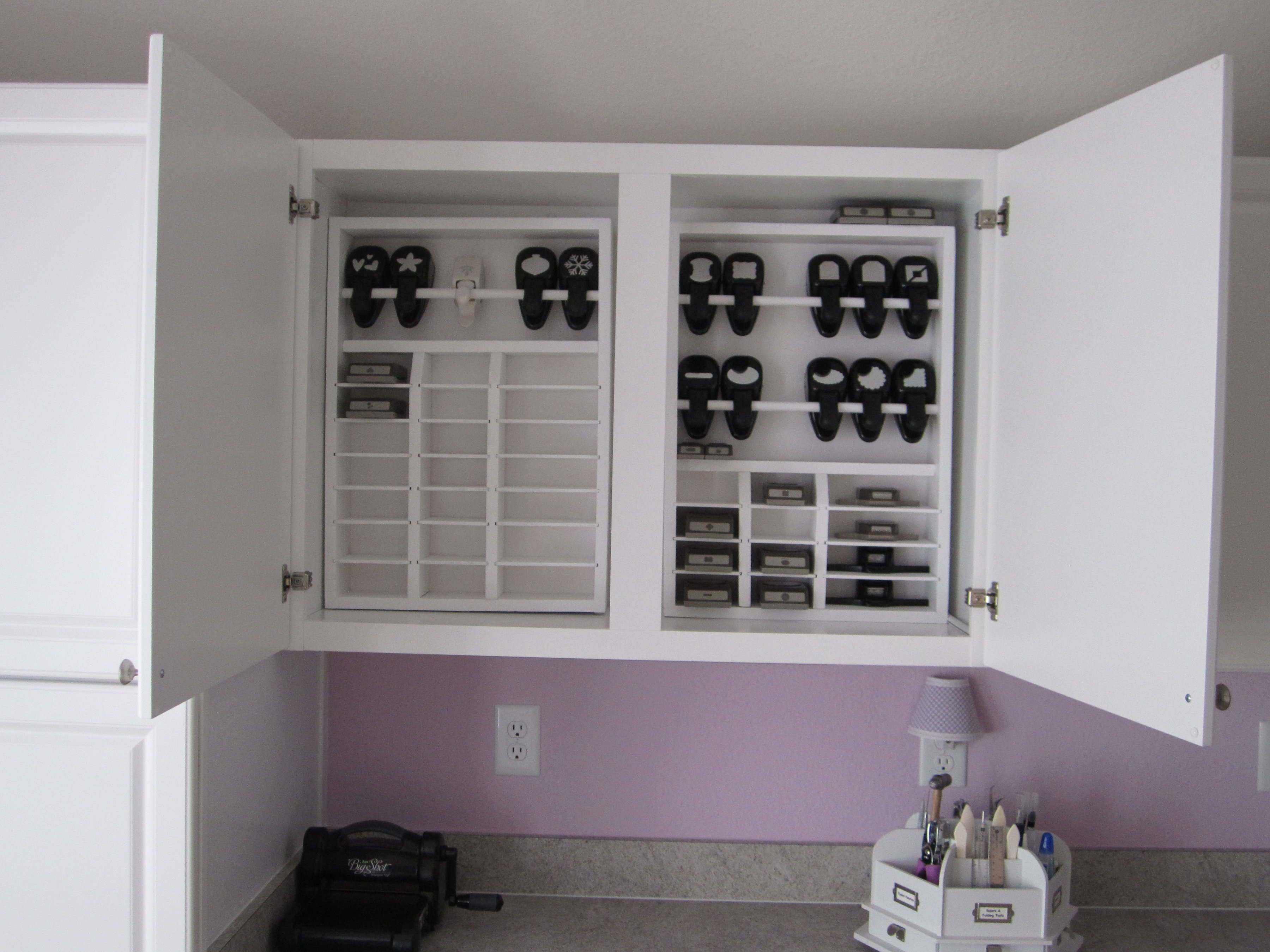 Scrapbooking furniture joy studio design gallery best for Craft punch storage ideas