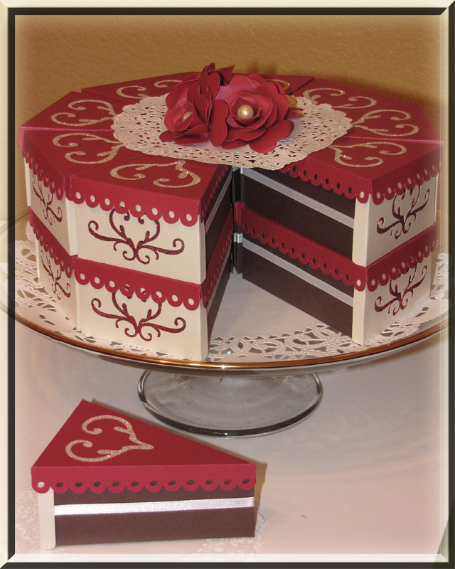 Paper Favor box Cake