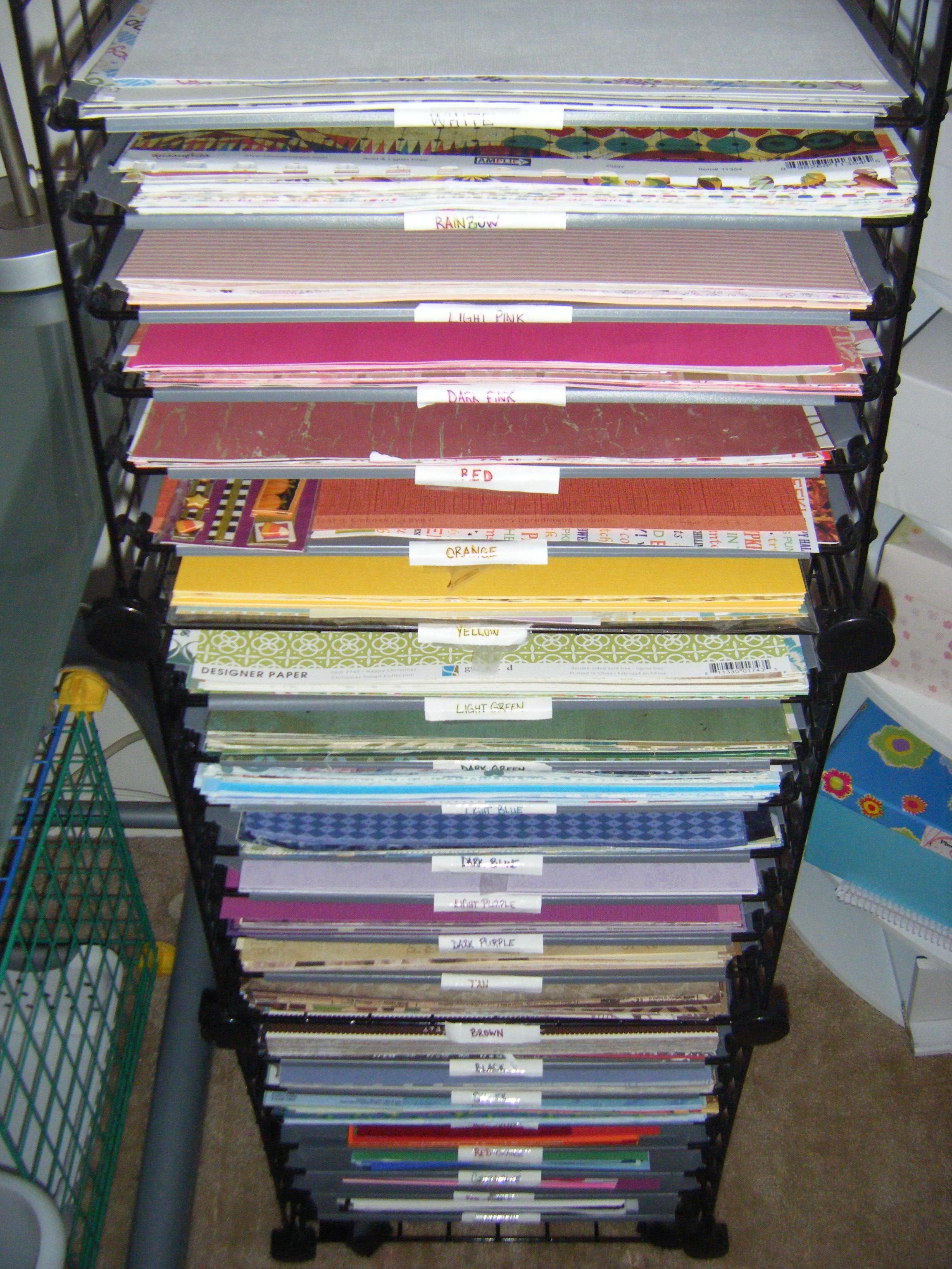 Scrapbook paper rack - Wire Paper Rack