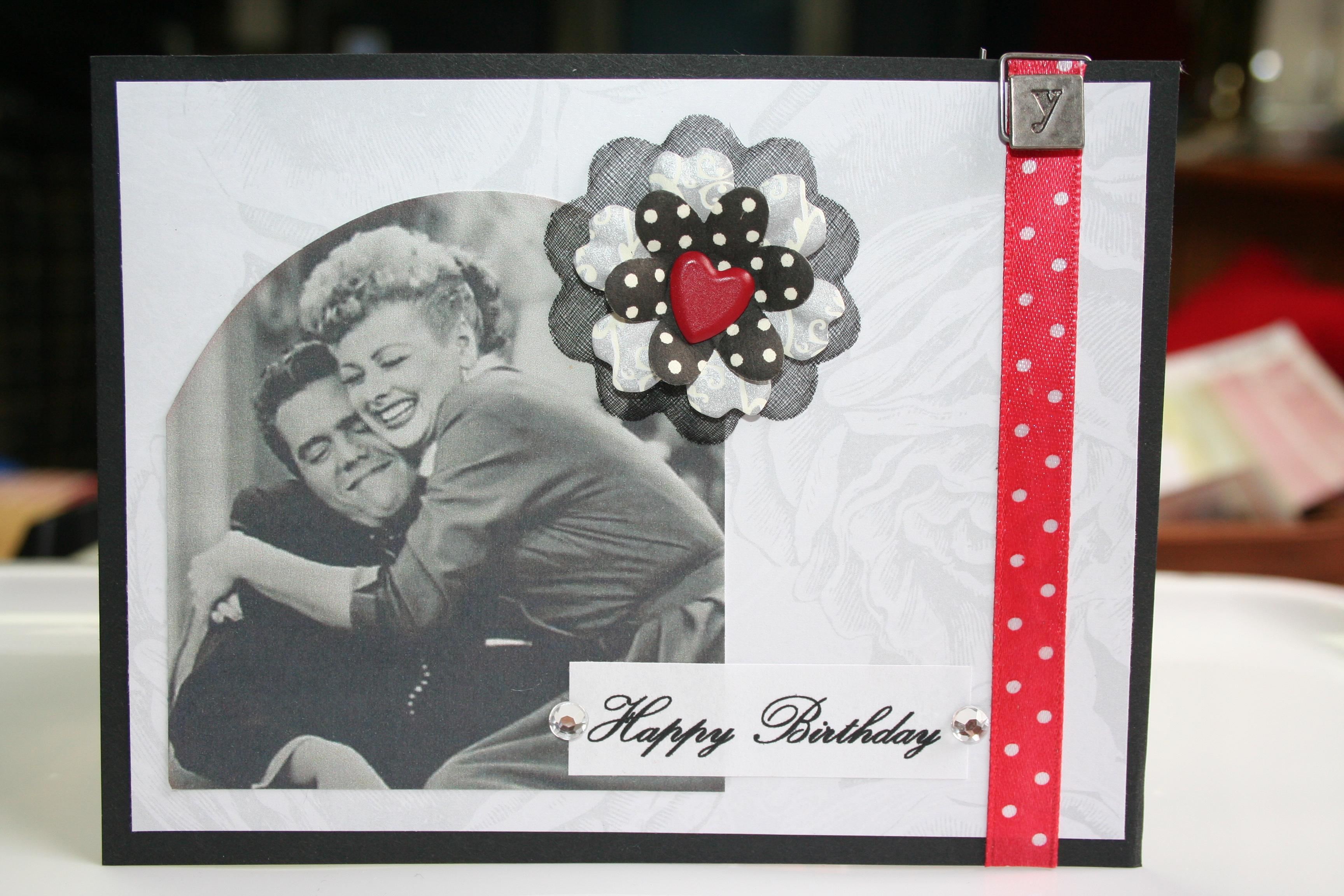 I Love Lucy Birthday Card