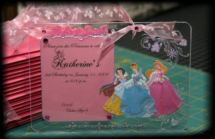 Acrylic Princess Invitation