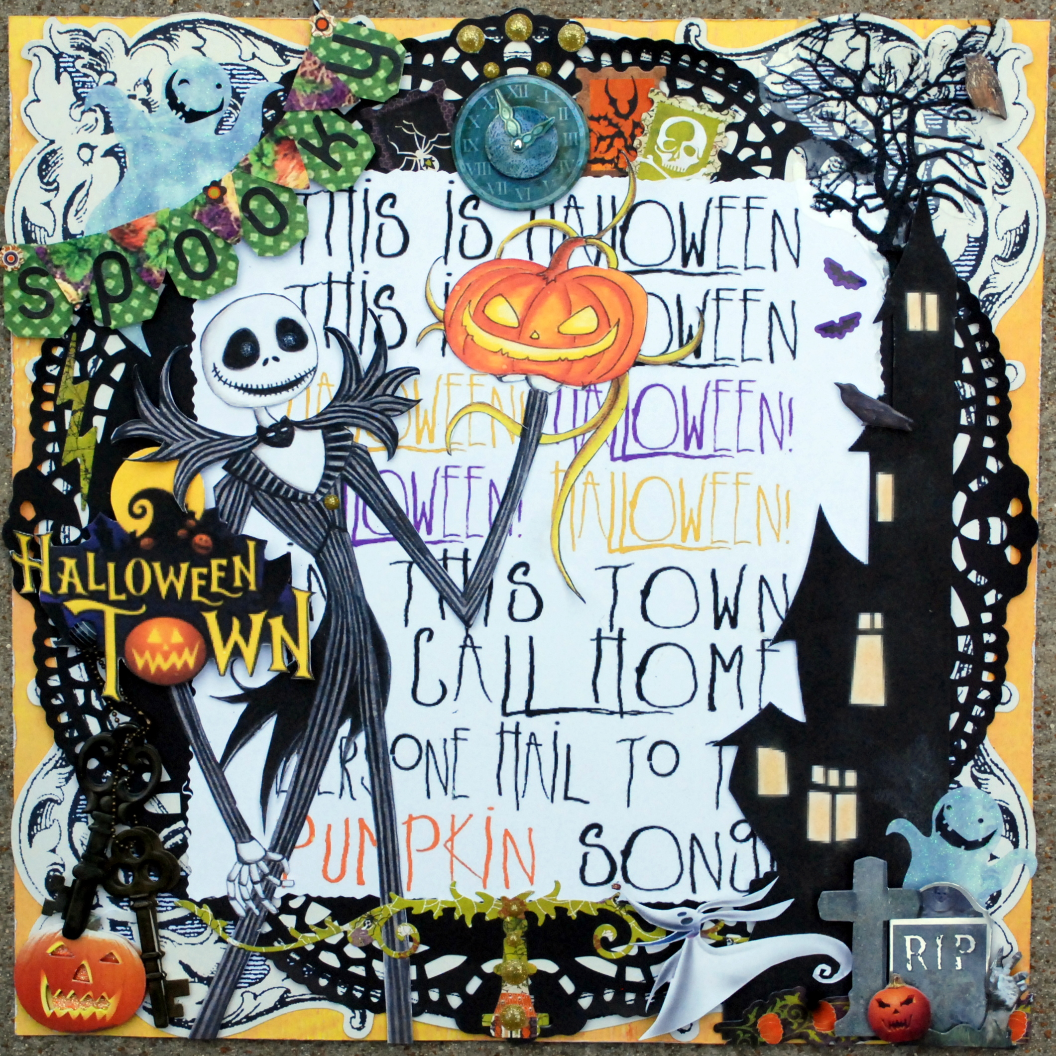 Nightmare Before Christmas Halloween Town Woframe