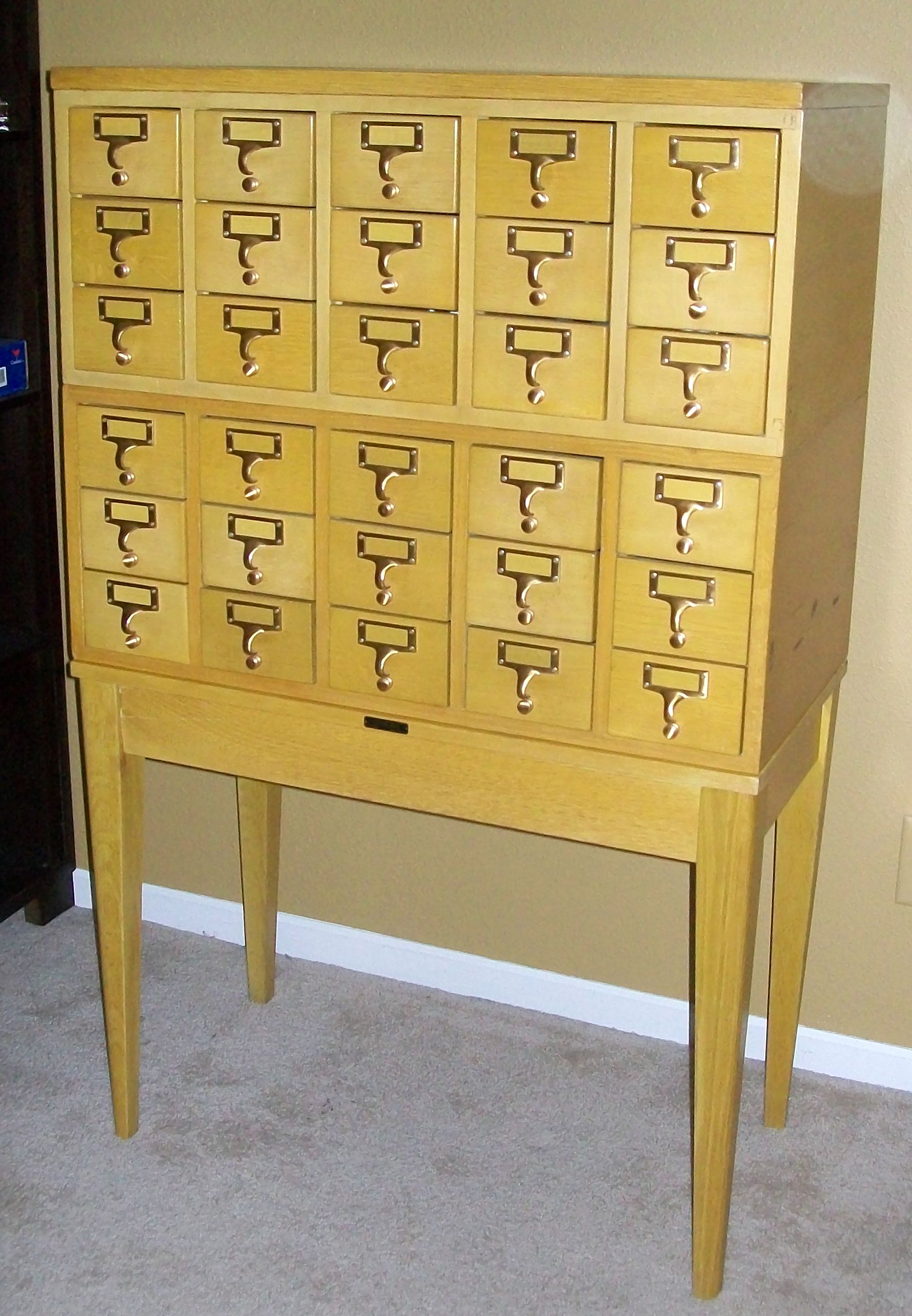 card catalog cabinet library card catalog cabinet for scraproom storage 13272