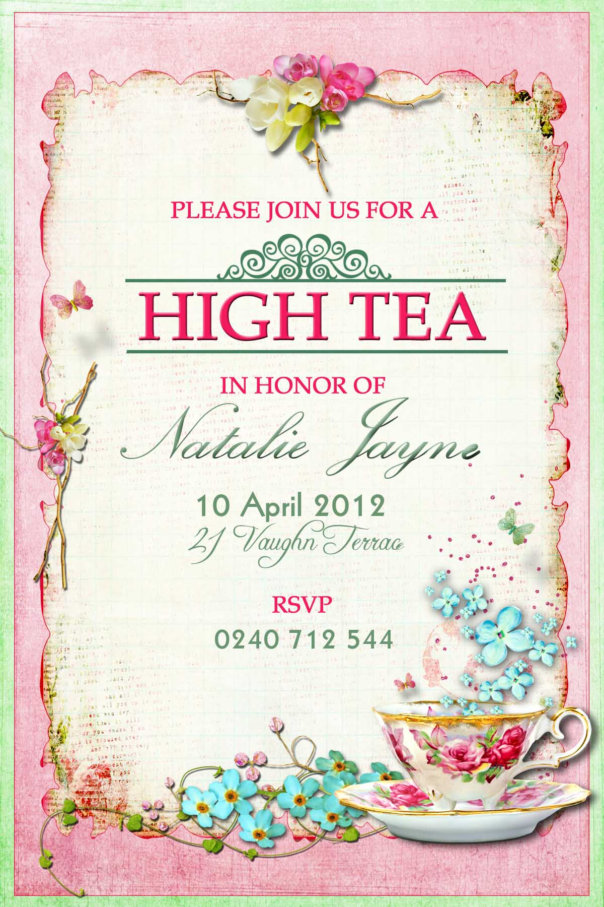 clipart tea party invitation - photo #7