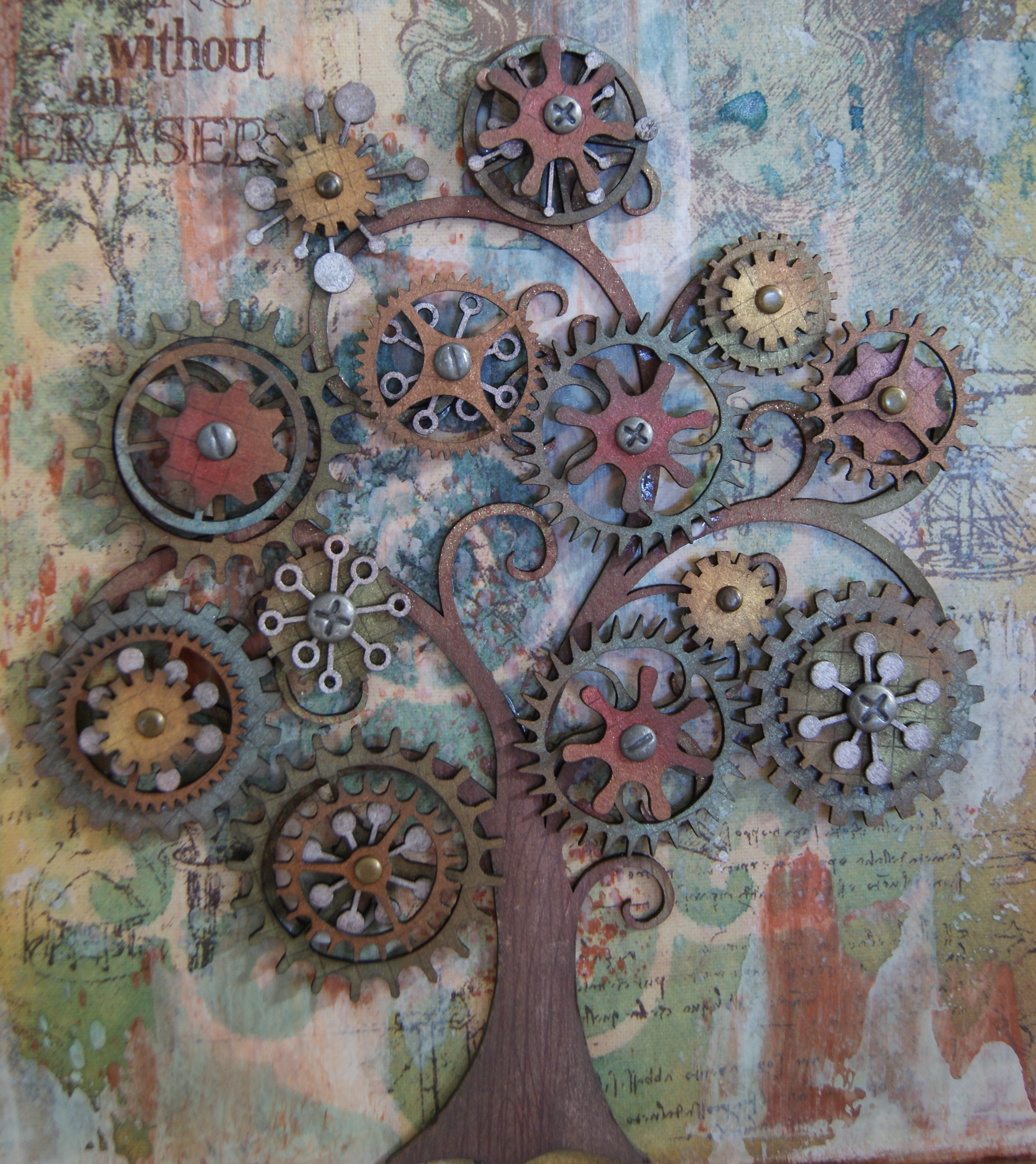 steampunk tree art diy miscellaneous media crafts