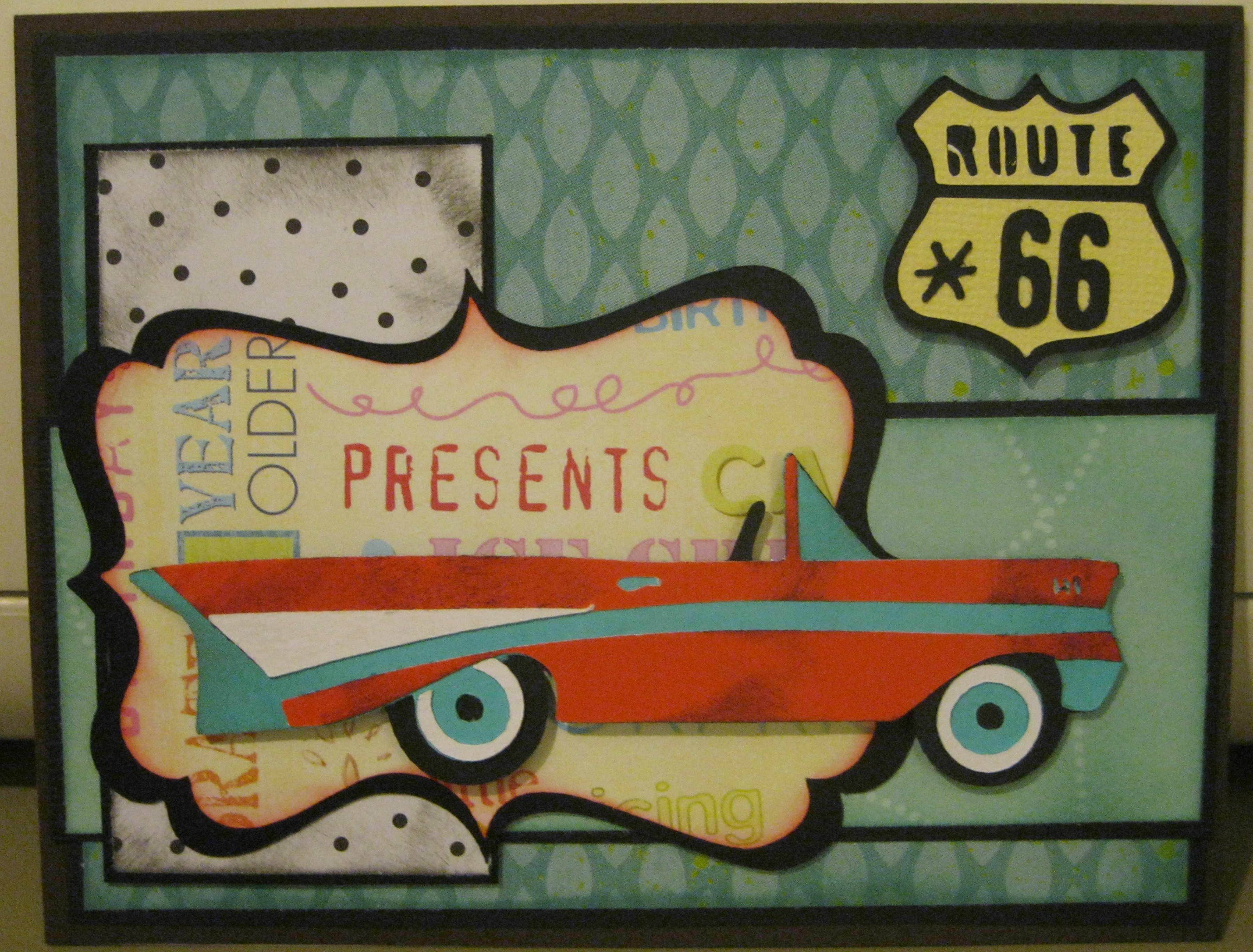 birthday card route 66 – Manly Birthday Cards