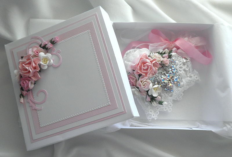 Other: Shabby Chic Hart Pillow and Handmade Gift Box
