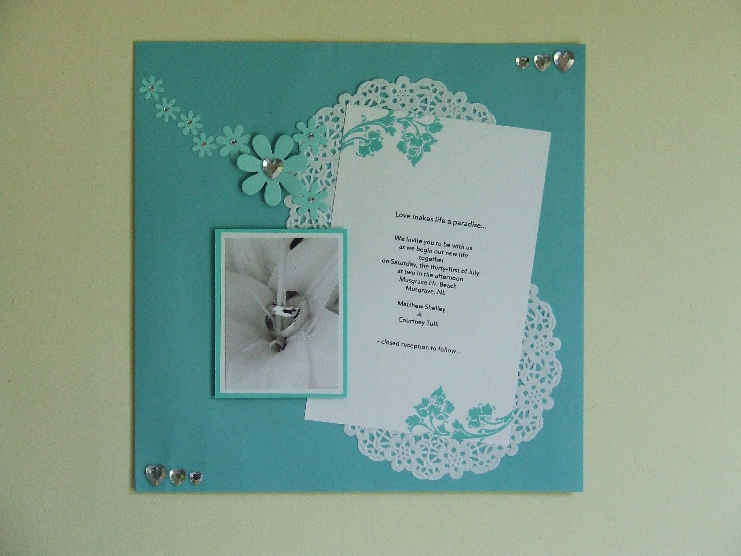 Front Page From My Step Daughters Wedding Scrapbook