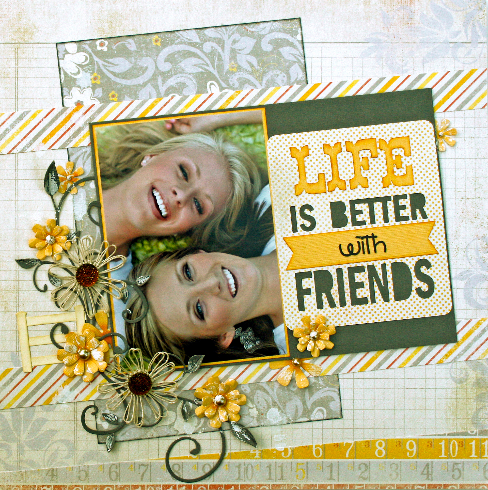 farewell scrapbook template - layout life is better with friends