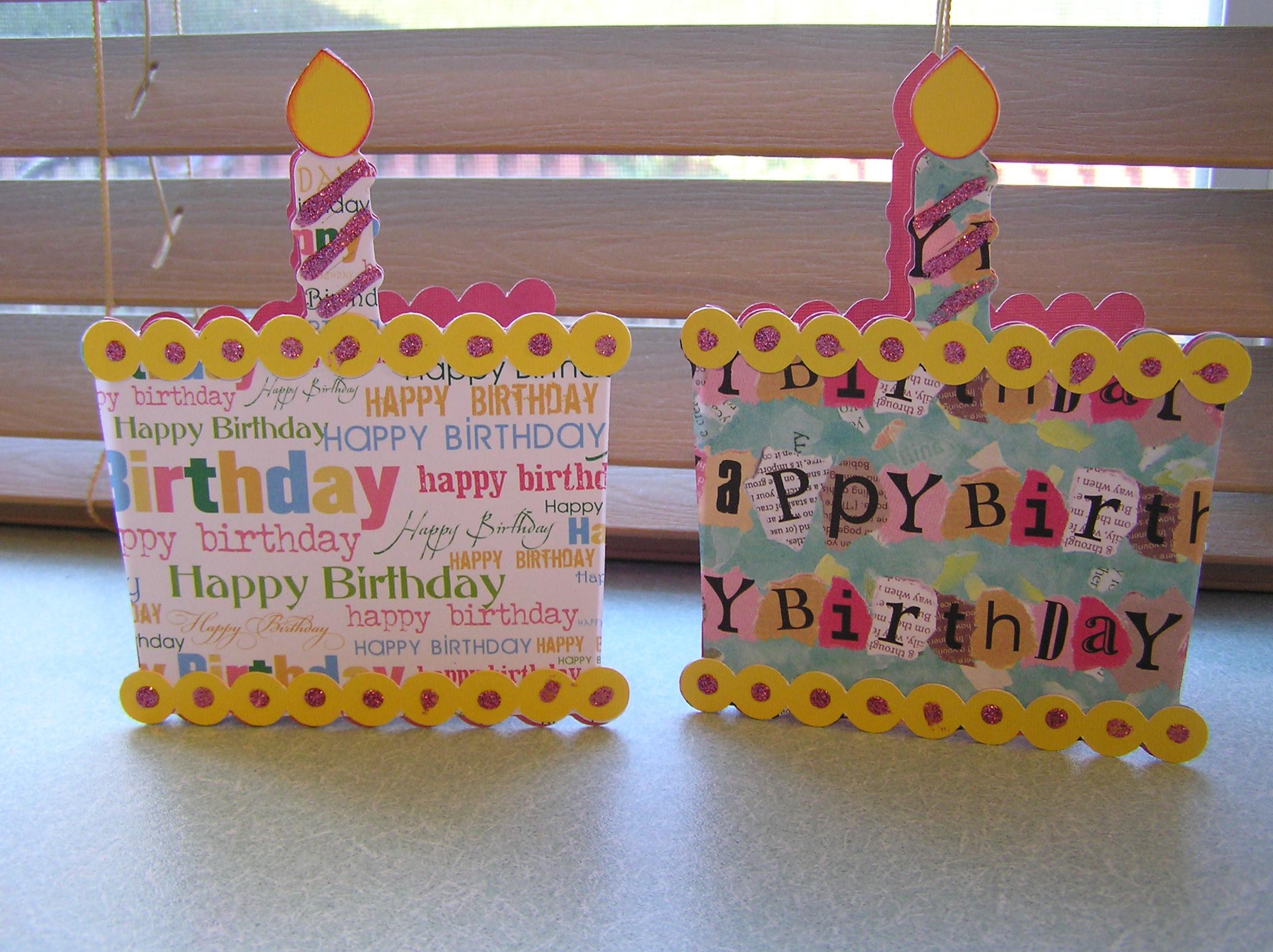 birthday cards using cricut sweet treats