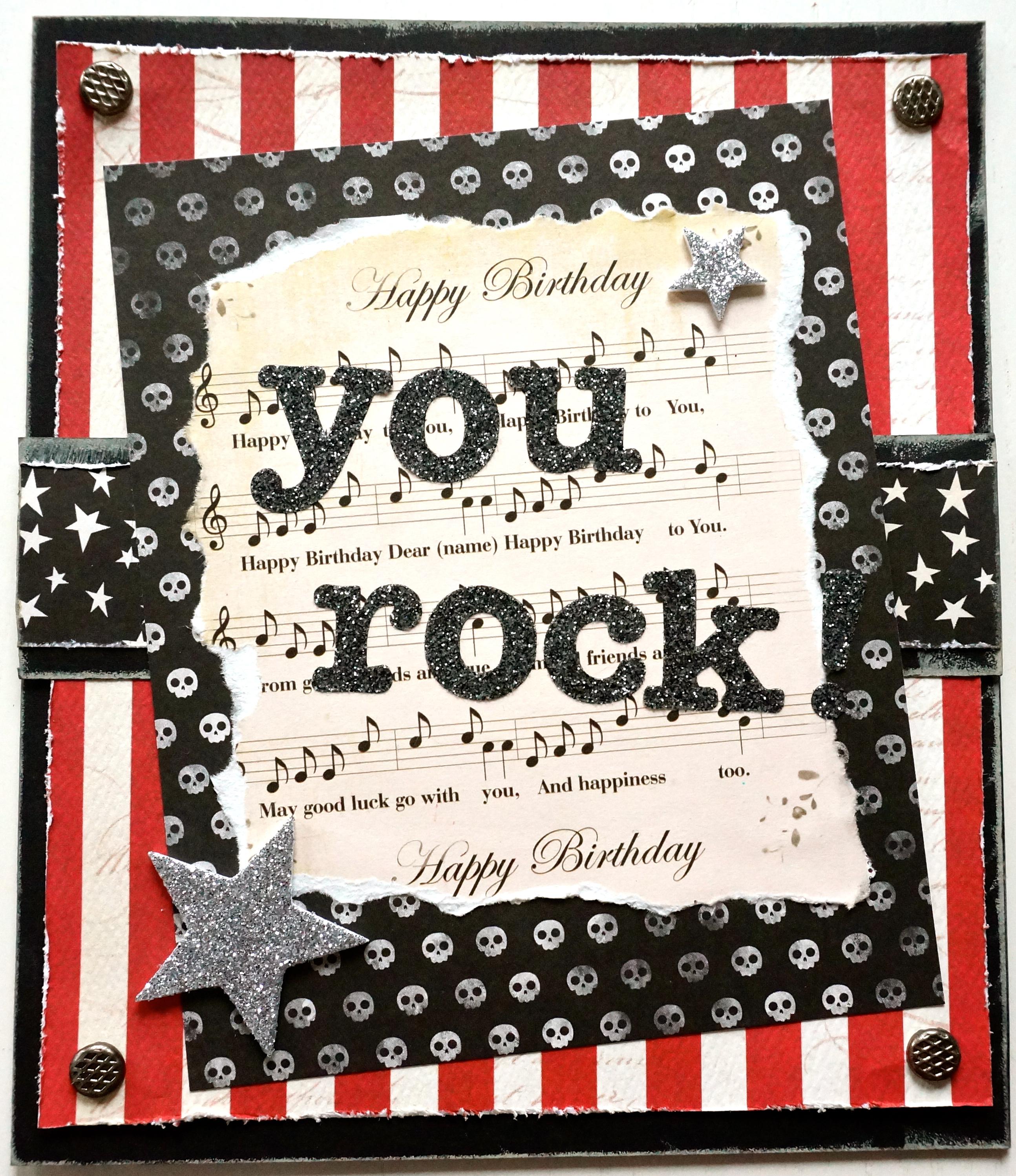 You Rock Birthday Card