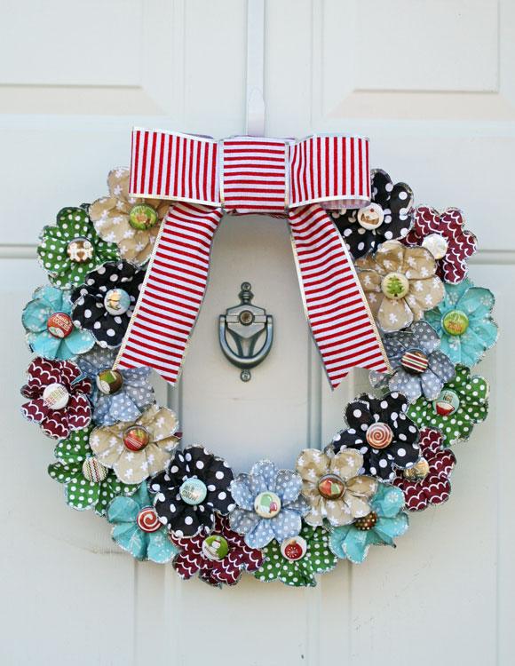 Paper flower wreath mightylinksfo