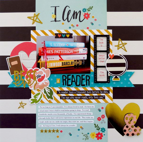 I Am Scrapbook Layout