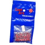 "1/8"" Red Mini Brads - 100 count"