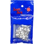 "1/8"" White Mini Brads - 100 count"